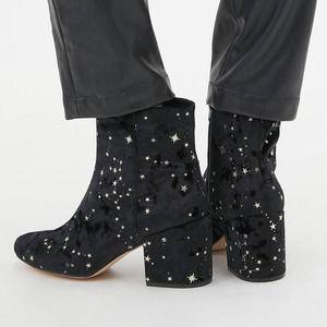 Urban Outfitters Margot Constellation Velvet Boots